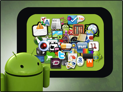 logo android devant icones android