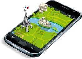 illustration application geolocalisation smartphone