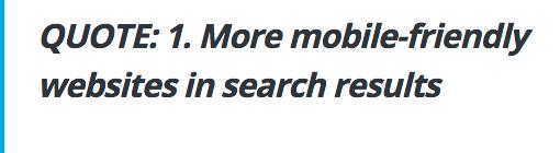 google citation sur les sites responsives