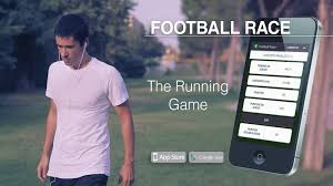 publicite application football race