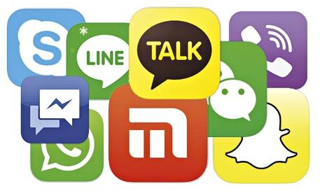 logos applications de messagerie