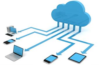 illustration cloud differents appareils