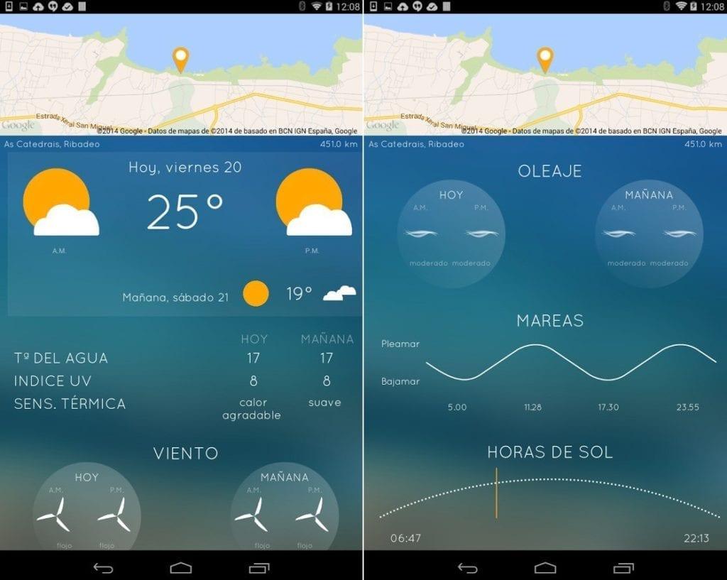 application mobile meteo