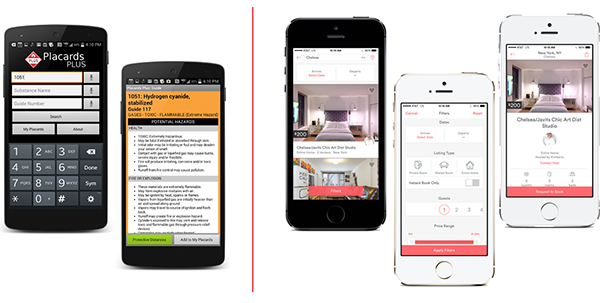 ecrans iphone exemples applications