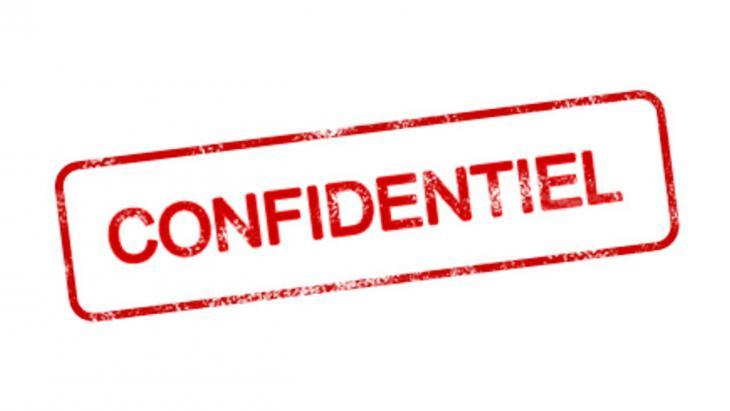 etiquette confidentiel