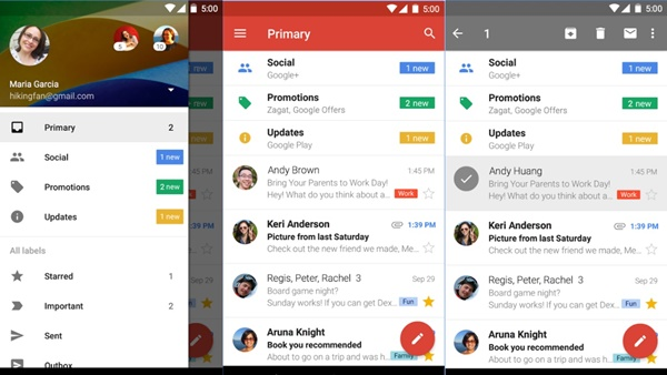 captures ecran plateforme gmail