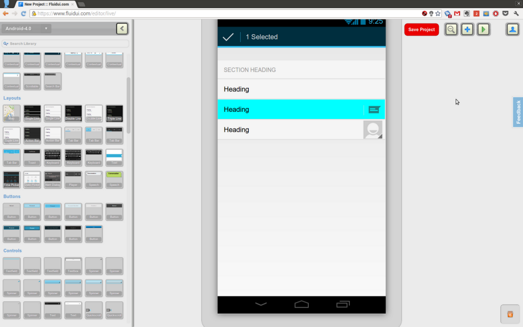 ecran developpement application