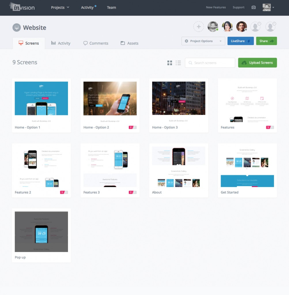 invision-prototypage-developpement-dapplication
