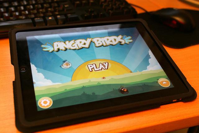 ecran ipad jeu angry birds