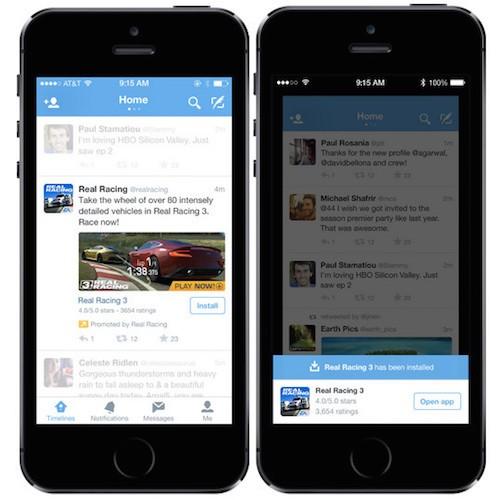 ecran iphone twitter application