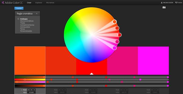 Creation de site internet : couleurs