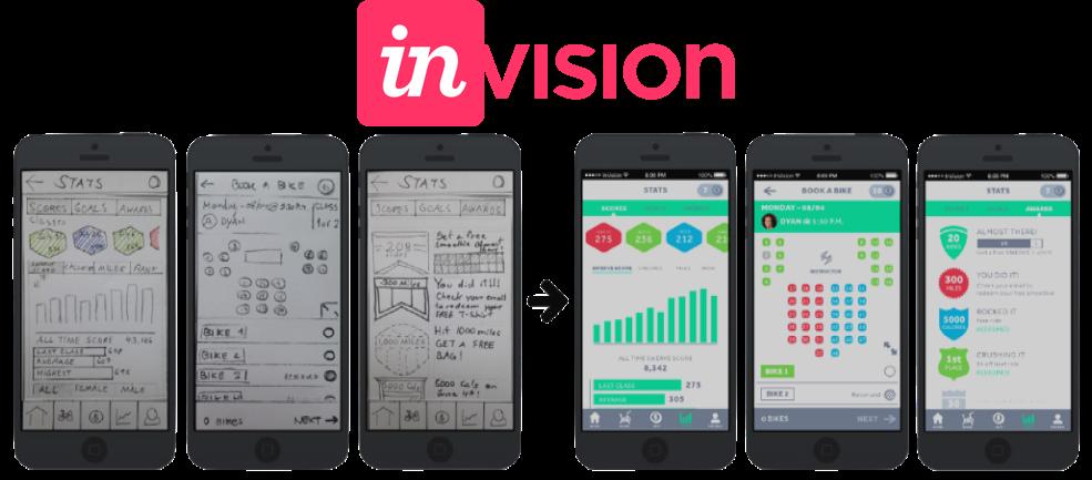 Réaliser une app ios écran invision