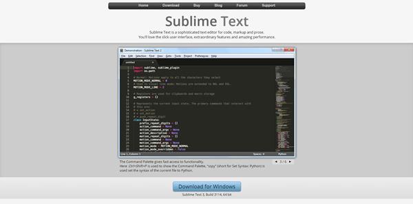 interface sublimetext