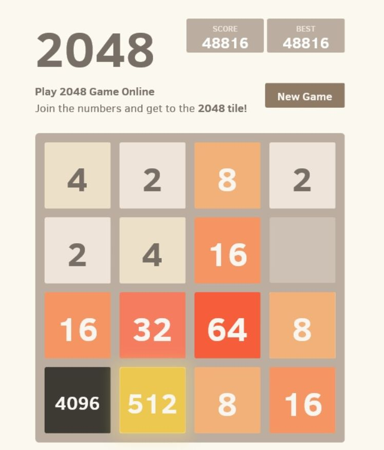 screenshot 2048