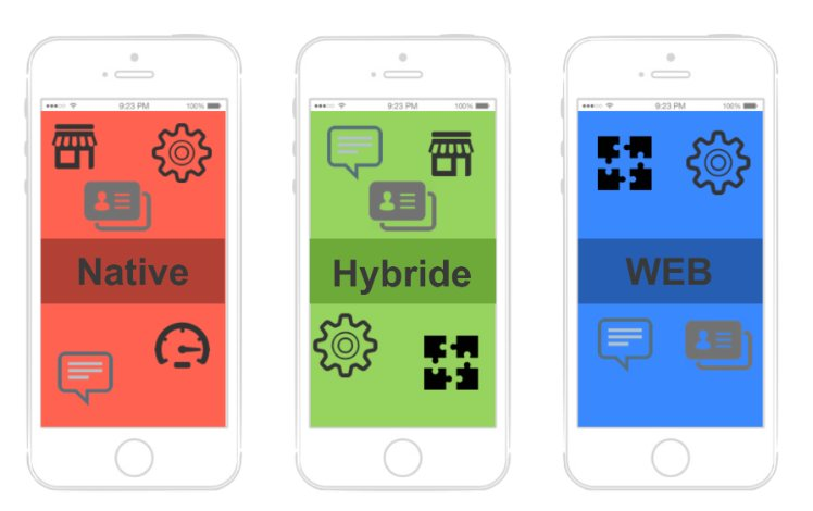 application native, hybride et web