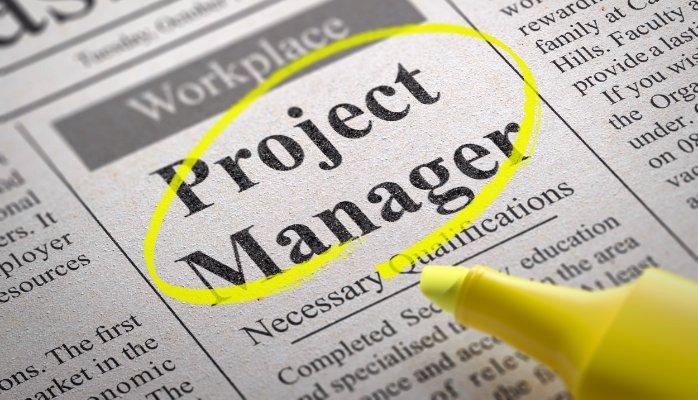 annonce travail gestion de projet dans le journal