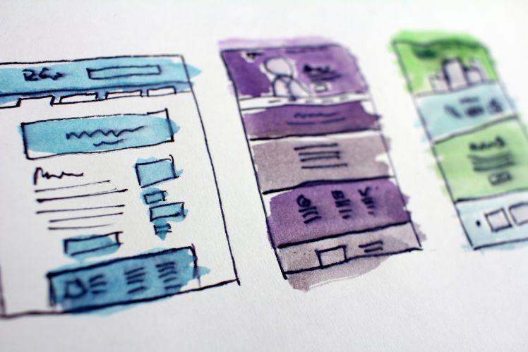 croquis développement application mobile - développement d'application
