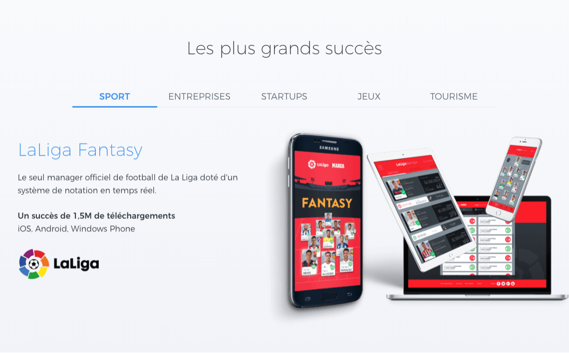page site yeeply sur les success stories