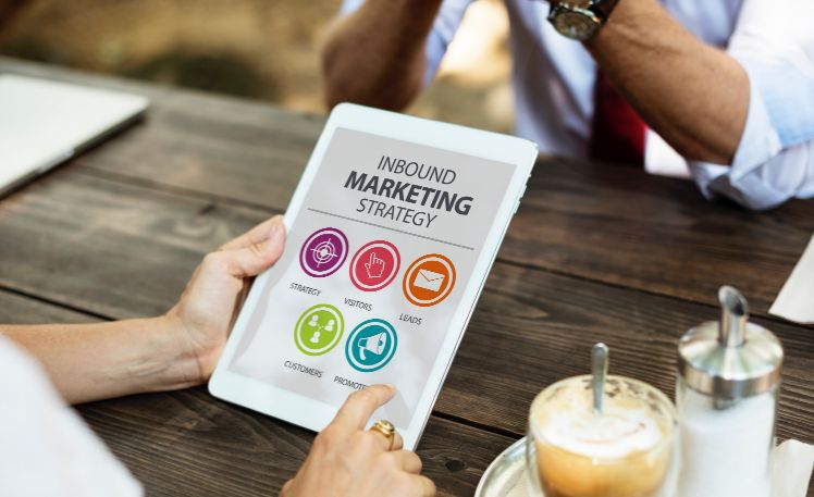 tablet with strategy - marketing mobile