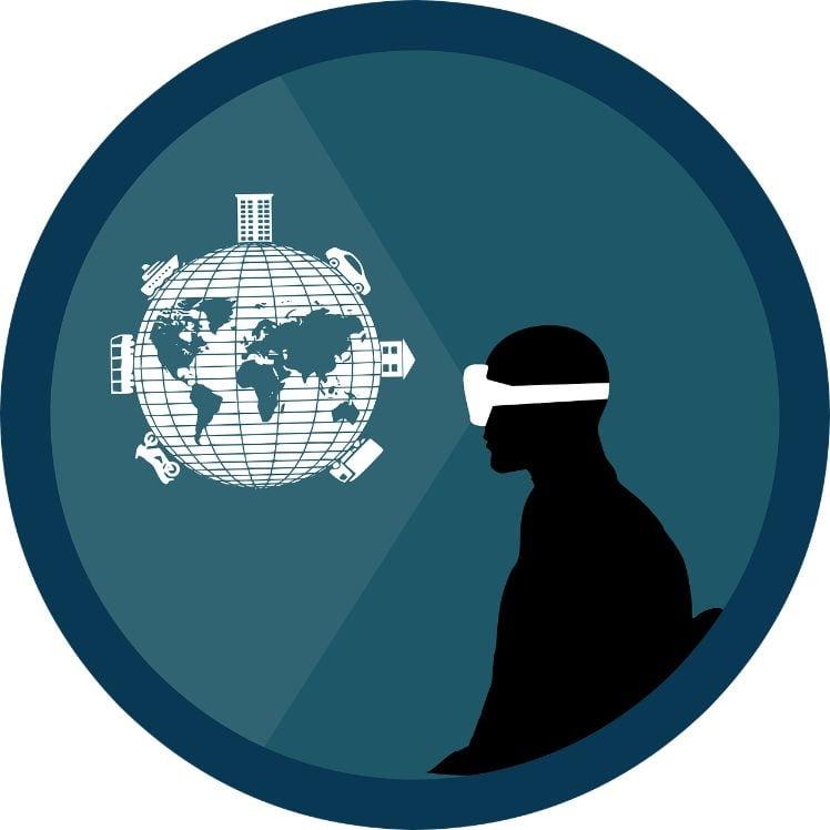 illustration casque realite virtuelle ouvre sur le monde