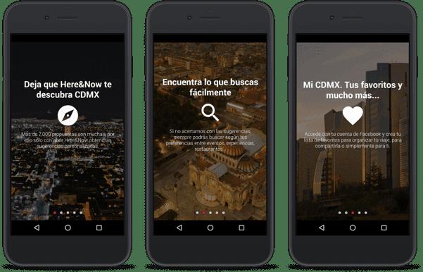 trois ecrans app iphone