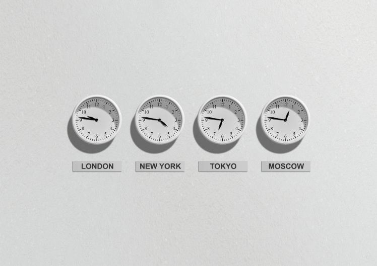 horaire monde - bureau mobile