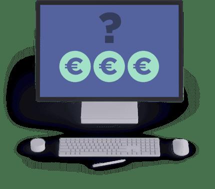 écarn-de-pc-avec-clavier-et-souris-et-affichage-de-3-signes-d'euros-avec-point-d'interrogation