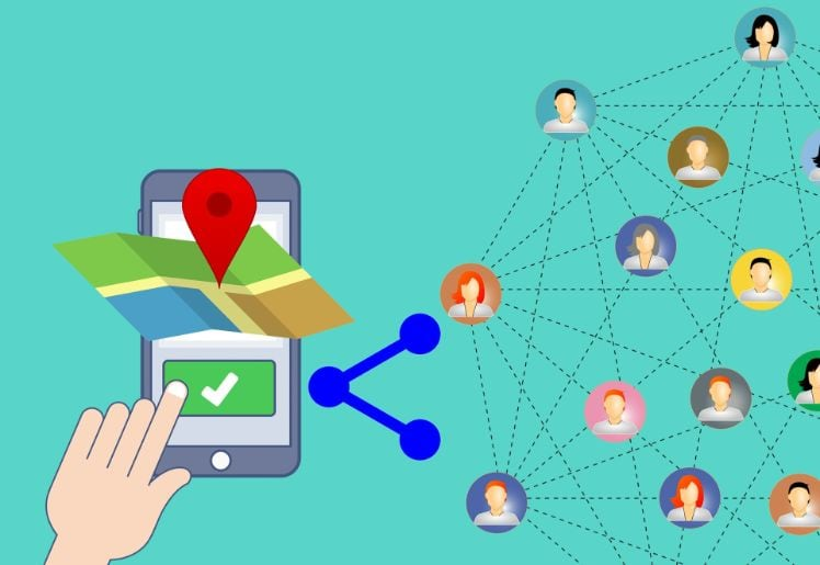 localisation contacts smartphone