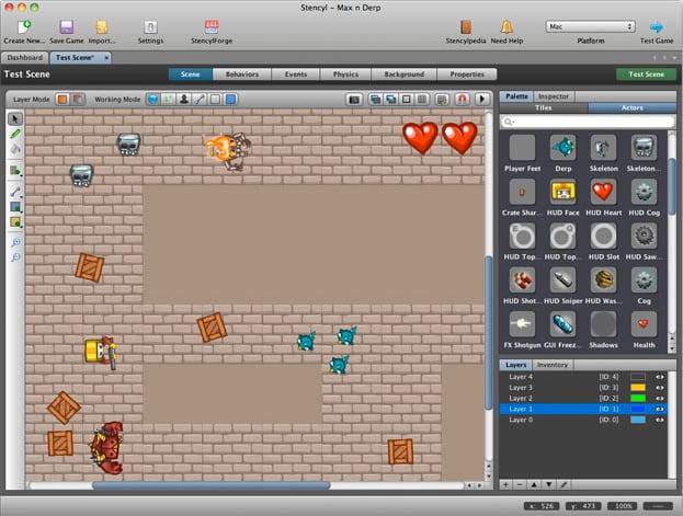 plateforme jeux videos avec formes