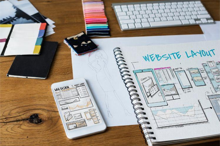 design web- layout des couleurs