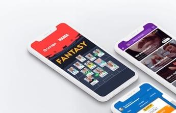 3 smartphone affichant sur leurs écran differentes applications mobiles
