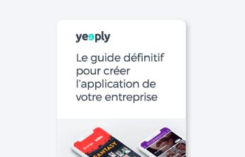 couverture e-book de guide de création d'application d'entreprise de yeeply
