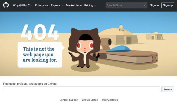 design erreur 404 agreable