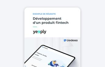 couverture d'ebook de développement d'un produit fintech de yeeply