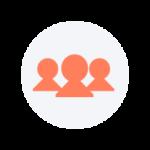icône de équipe de trois personnes