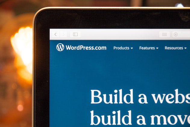 page wordpress sur un ordinateur portable
